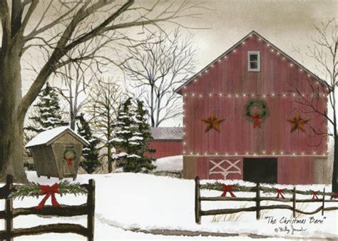 christmas barn box   christmas cards  lpg