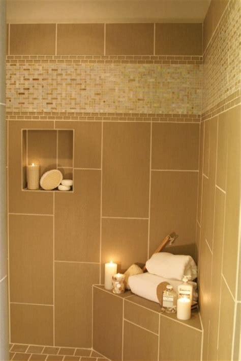 Bathroom Glass Tile Accent Ideas Innovative Interceramic Tile Mode Transitional