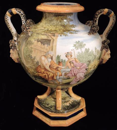 Zeus Vase Ultra Rare1898 Capodimonte Ginori Porcelain Majolica Vase