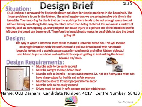 design brief exle for students gcse design and technology project resistant materials