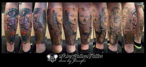 skin nation tattoo penang my egyptian half leg sleeve done by jennifer neoh at skin