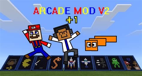 mod game line arcade mod v2 play arcade games in minecraft pe with