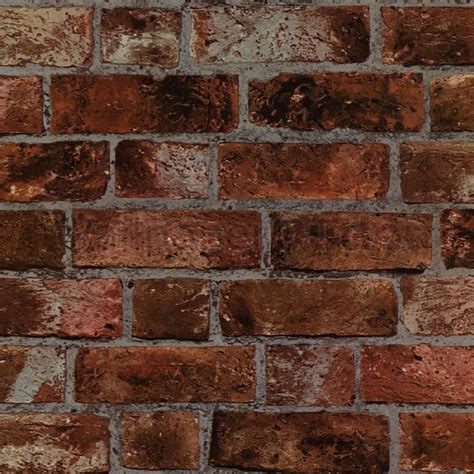 new decor rustic brick wallpaper brown