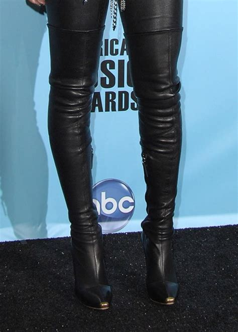 rihanna s leather the knee boots nitrolicious