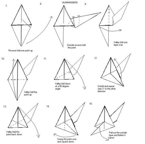 origami hummingbird tutorial 18 best images about papier on pinterest origami cranes