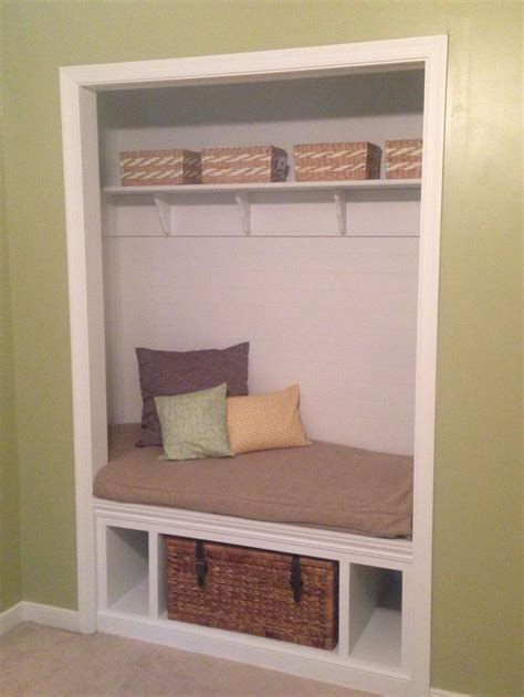 closet bench seat around the house pinterest