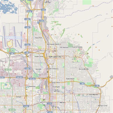 salt lake city usa map salt lake city map free printable maps