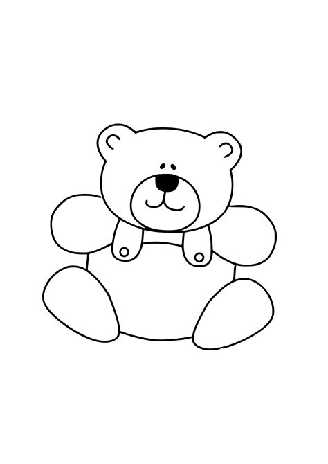 Teddy Outline Images by Teddy Outline Free Clipart Best