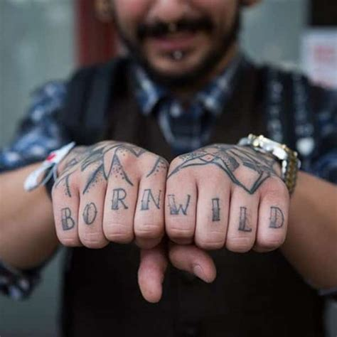 knuckle tattoos 88 badass knuckle tattoos that look powerful