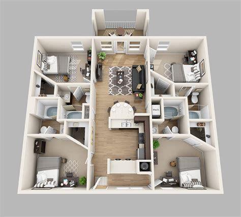 4 bedroom apartments floor plans lux13 apartments