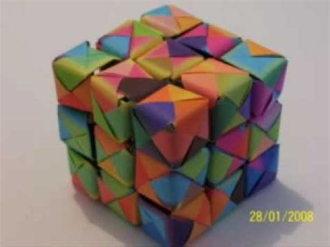 How To Make A Paper Rubix Cube - new origami rubik s cube