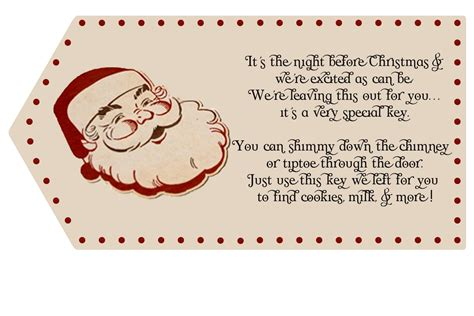 Printable Santa Key Template | crafty yummy home santa key