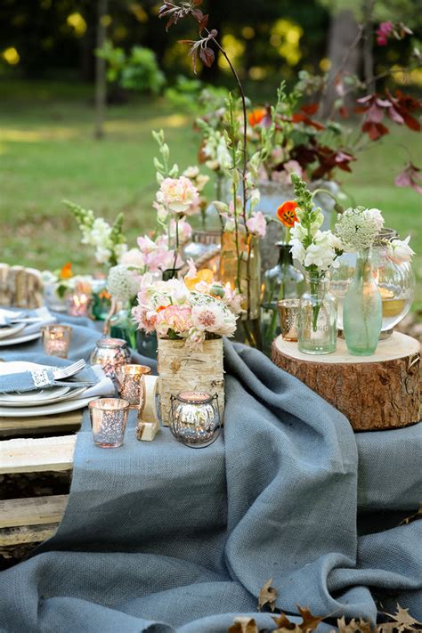 rustic garden picnic wedding nikki meyer photography
