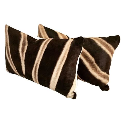 Hide Pillows by Zebra Hide Pillows No 96 And 97 At 1stdibs