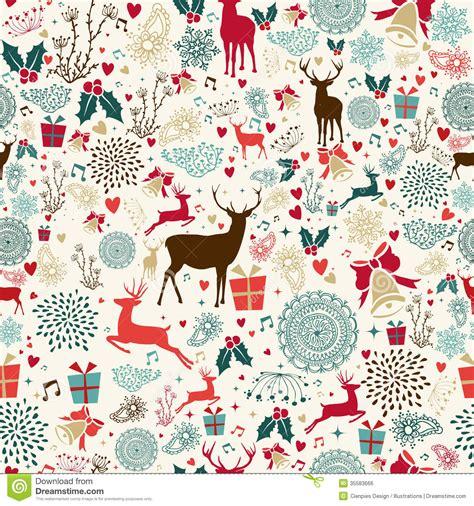 vintage holiday pattern vintage christmas reindeer seamless pattern royalty free
