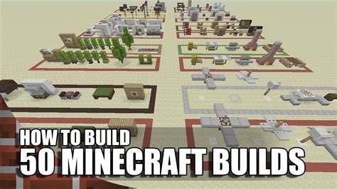 50 building decorations in minecraft