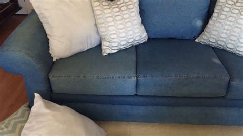 denim couch and loveseat denim sofa 150 youtube