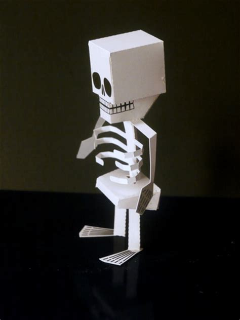 How To Make A Skeleton With Paper - papercraft skeleton a papecraft project for