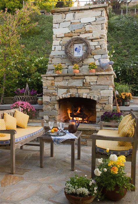 backyard stone fireplace stone fireplace traditional patio san diego by