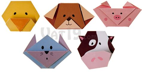 Folded Paper Animals - magnetic origami animal bookmarks folded paper bookmark