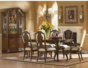 Traditional Dining Room Sets Art Furniture Traditions 7 Piece Rectangular Leg Dining