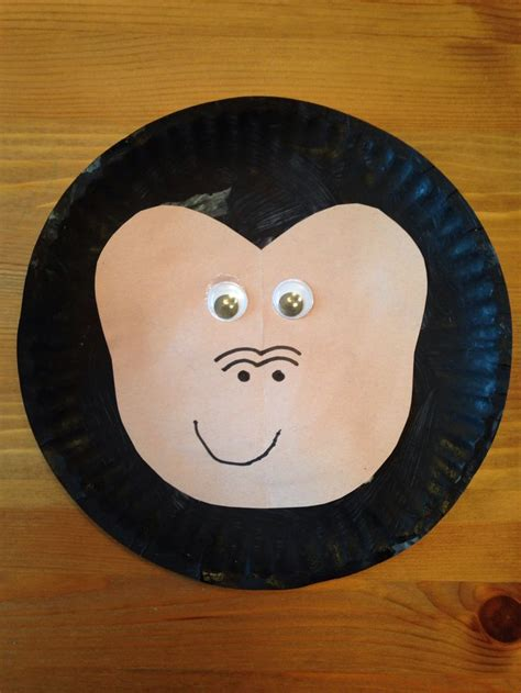 Crafts With Paper Plates For Preschoolers - best 25 gorilla craft ideas on coloring