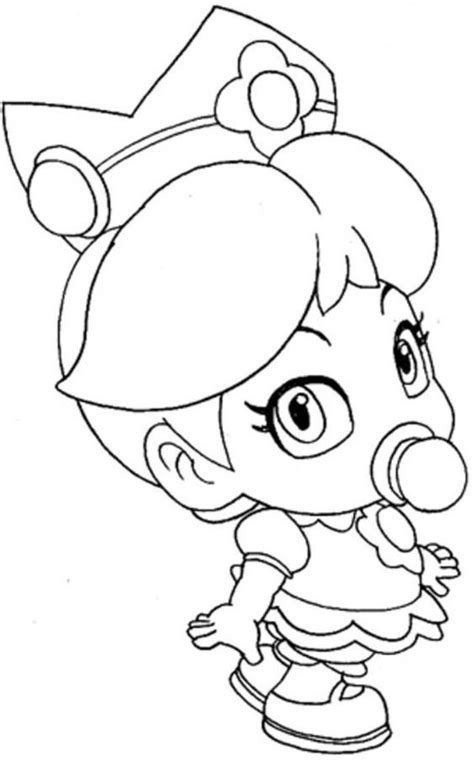 coloring pages baby items download baby princess peach mario coloring pages baby
