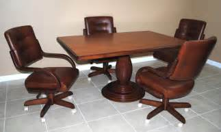 Kitchen Table Chairs With Casters Kitchen Tables With Caster Chairs Home Decorating Ideas 2016 2017