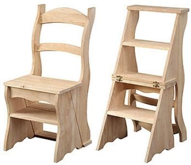 Ben Franklin Step Stool by Tiny House Furniture 1 Chair Ladder