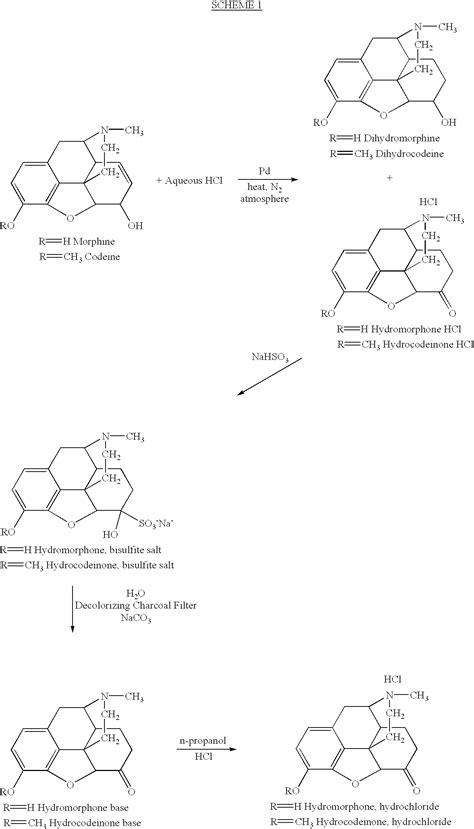 Hydrocodone Sysnthesis by Patent Us6512117 Hydromorphone And Hydrocodone