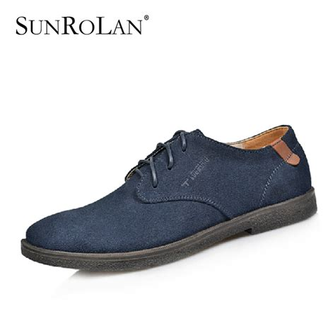Genuine Leather Oxfords aliexpress buy lace up suede shoes