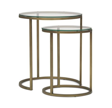 nesting accent tables bassey nesting accent table