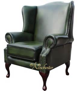 Antique High Back Armchair Chesterfield Flat Wing Saxon Mallory High Back Wing Chair