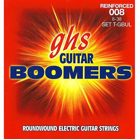 ultra light electric guitar strings ghs t gbul reinforced boomers ultra light electric guitar