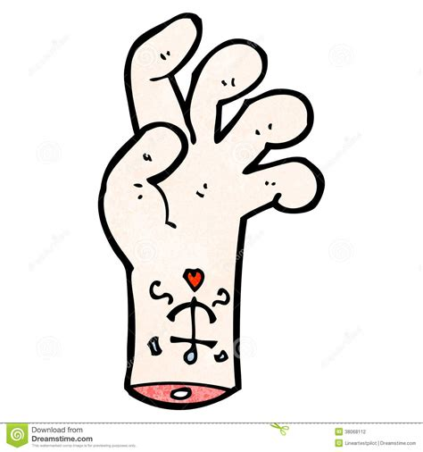 mister cartoon tattoo prices cartoon hand with tattoo stock photography image 38068112
