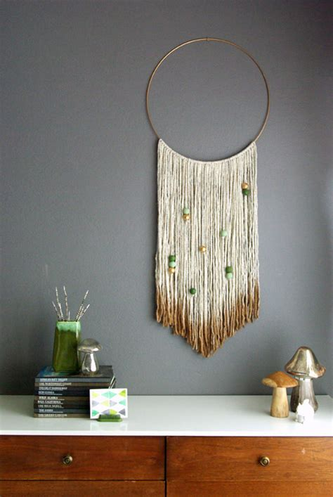 Handmade Wall Hangings Ideas - 6 easy pieces diy wall hangings handmade