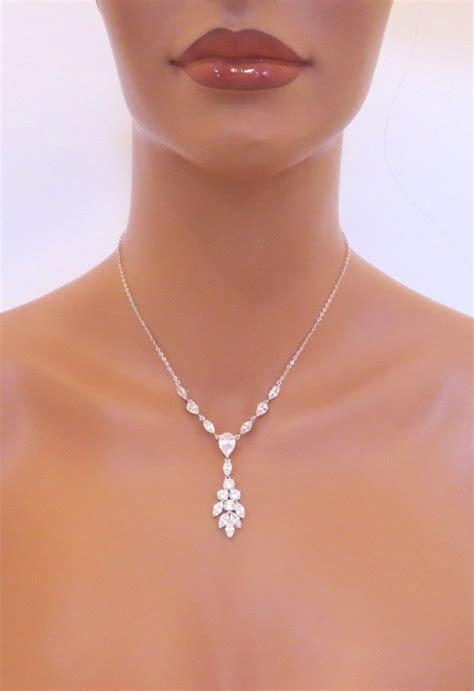 schlichter brautschmuck bridal rhinestone necklace vintage inspired necklace simple