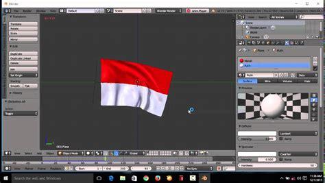 tutorial membuat gambar 3d naruto tutorial bendera berkibar di aplikasi blender untuk pemula