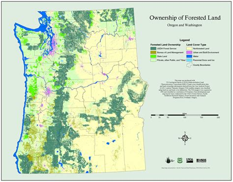 map of oregon forests maps pnw research station usda forest service
