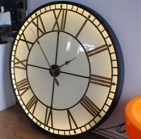 vintage skeleton wall clock oversized clocks extra large big illuminated light big skeleton vintage