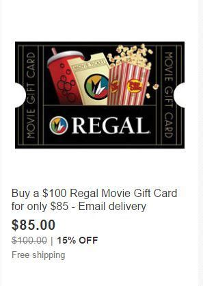 Regal Cinemas Gift Card Promo Code - hot regal cinemas 100 email delivery gift card for only 85 couponista queen