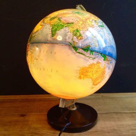 globe terrestre mappemonde lumineux lampe electrique