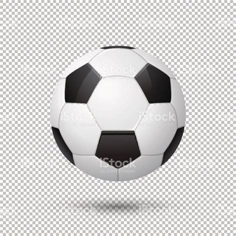 vector realistic flying soccer ball closeup isolated on