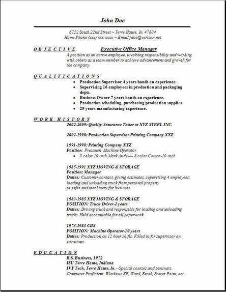 resume objective exle for office manager executive office manager resume occupational exles sles free edit with word