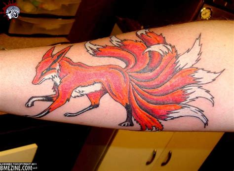 9 tailed fox tattoo this is an awesome i the use of color