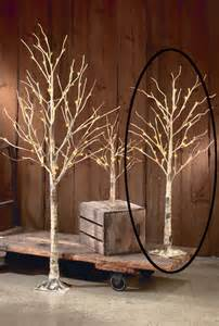 lighted tree branches home decor decorative led lighted brown birch tree branch accent 52 quot floor table l ebay