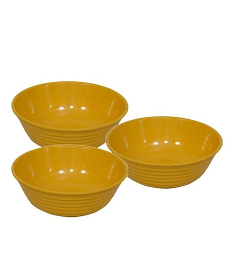 Set 3pcs Dig Yellow stand max melamine bowl yellow set of 3pcs buy at best price in india snapdeal