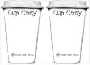 Cup Template by Simple Cup Cozy And Template Frogging Along