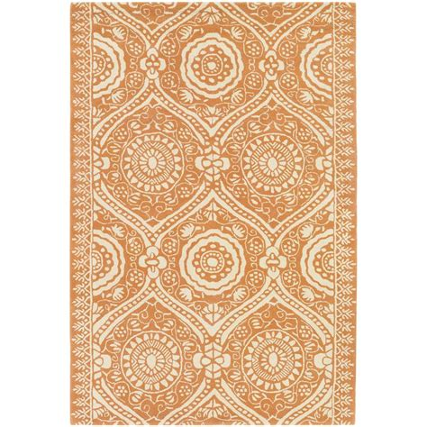 Area Rug 5 X 6 Chandra Butler Orange 5 Ft X 7 Ft 6 In Indoor Area Rug Amy13225 576 The Home Depot