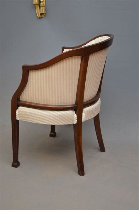 Edwardian Armchair An Edwardian Mahogany Armchair Antiques Atlas